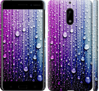 Чехол на Nokia 6 Капли воды