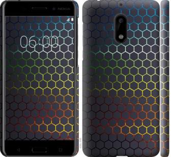 Чехол на Nokia 6 Переливающиеся соты