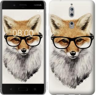Чехол на Nokia 8 Лис в очках