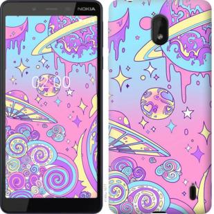 Чехол на Nokia 1 Plus Розовая галактика