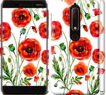 Чехол на Nokia 6 2018 Нарисованные маки