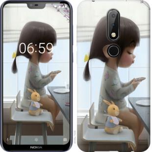Чехол на Nokia 6.1 Plus Милая девочка с зайчиком