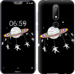 Чехол на Nokia 6.1 Plus Лунная карусель