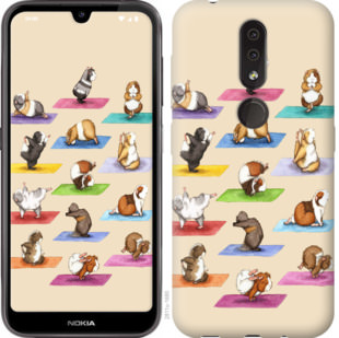 Чехол на Nokia 4.2 Йога морских свинок