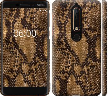 Чехол на Nokia 6.1 Змеиная кожа