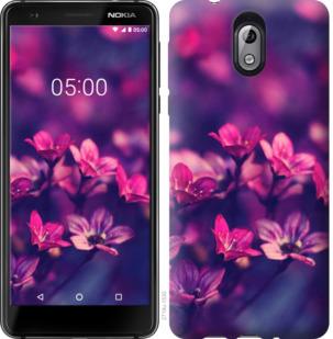 Чехол на Nokia 3.1 Пурпурные цветы