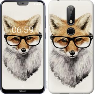 Чехол на Nokia 6.1 Plus Лис в очках