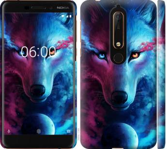 Чехол на Nokia 6.1 Арт-волк