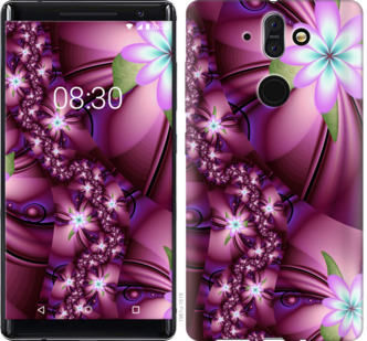 Чехол на Nokia 8 Sirocco Цветочная мозаика