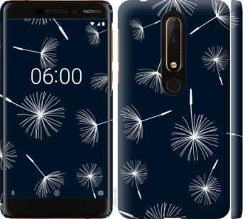 Чехол на Nokia 6.1 одуванчики