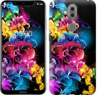 Чехол на Nokia 7.1 Plus Абстрактные цветы