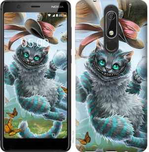 Чехол на Nokia 5.1 Чеширский кот 2