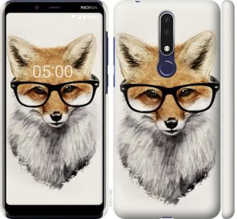 Чехол на Nokia 3.1 Plus Лис в очках