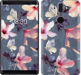 Чехол на Nokia 8 Sirocco Нарисованные цветы