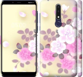 Чехол на Nokia 3.1 Plus Японские цветы