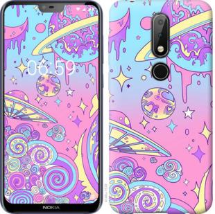 Чехол на Nokia 6.1 Plus Розовая галактика