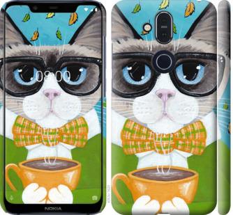 Чехол на Nokia 8.1 CatandCoffee
