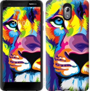 Чехол на Nokia 3.1 Разноцветный лев