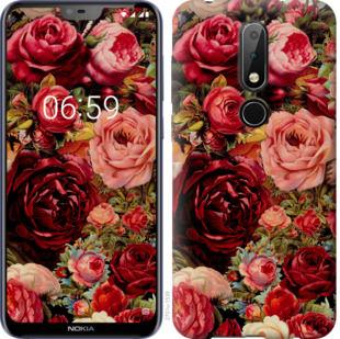 Чехол на Nokia 6.1 Plus Цветущие розы