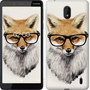Чехол на Nokia 1 Plus Лис в очках