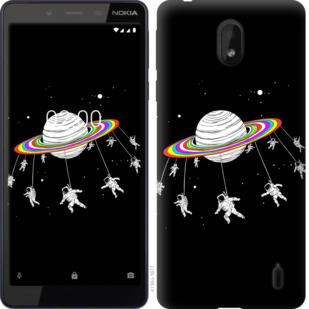 Чехол на Nokia 1 Plus Лунная карусель
