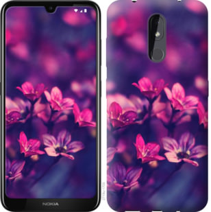 Чехол на Nokia 3.2 Пурпурные цветы