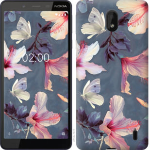 Чехол на Nokia 1 Plus Нарисованные цветы