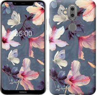 Чехол на Nokia 7.1 Plus Нарисованные цветы
