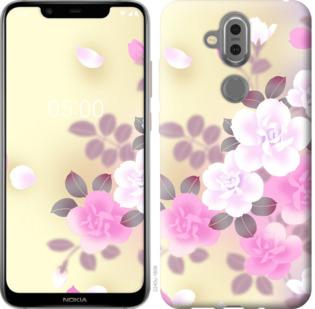 Чехол на Nokia 7.1 Plus Японские цветы