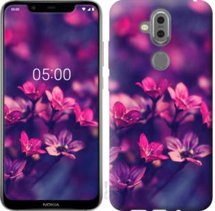 Чехол на Nokia 7.1 Plus Пурпурные цветы