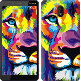 Чехол на Nokia 1 Plus Разноцветный лев