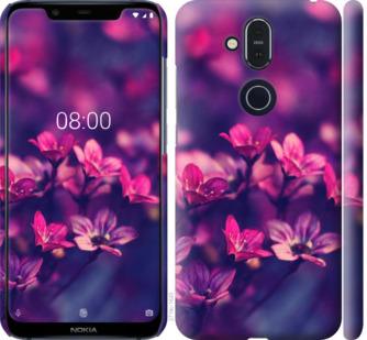 Чехол на Nokia 8.1 Пурпурные цветы