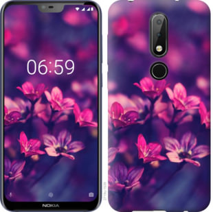 Чехол на Nokia 6.1 Plus Пурпурные цветы