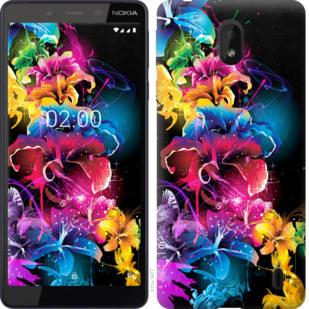 Чехол на Nokia 1 Plus Абстрактные цветы