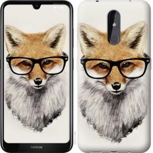 Чехол на Nokia 3.2 Лис в очках