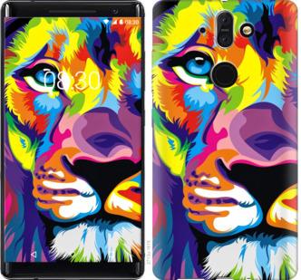 Чехол на Nokia 8 Sirocco Разноцветный лев