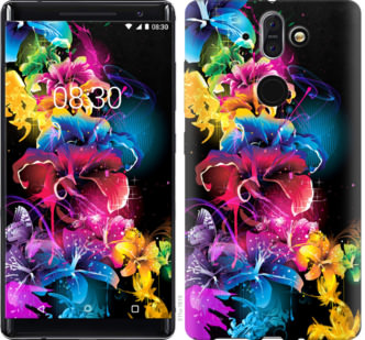 Чехол на Nokia 8 Sirocco Абстрактные цветы