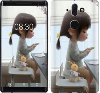 Чехол на Nokia 8 Sirocco Милая девочка с зайчиком