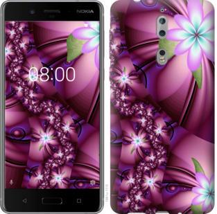 Чехол на Nokia 8 Цветочная мозаика