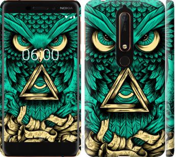 Чехол на Nokia 6 2018 Сова Арт-тату