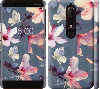 Чехол на Nokia 6 2018 Нарисованные цветы