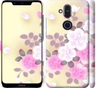 Чехол на Nokia 8.1 Японские цветы
