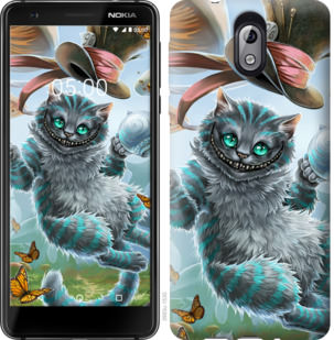 Чехол на Nokia 3.1 Чеширский кот 2