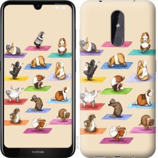 Чехол на Nokia 3.2 Йога морских свинок