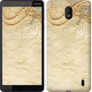 Чехол на Nokia 1 Plus Кружевной орнамент