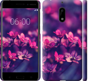 Чехол на Nokia 6 Пурпурные цветы