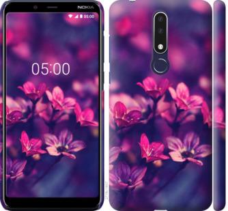 Чехол на Nokia 3.1 Plus Пурпурные цветы