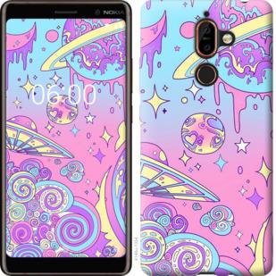 Чехол на Nokia 7 Plus Розовая галактика