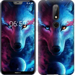 Чехол на Nokia 6.1 Plus Арт-волк