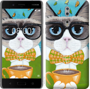Чехол на Nokia 8 CatandCoffee